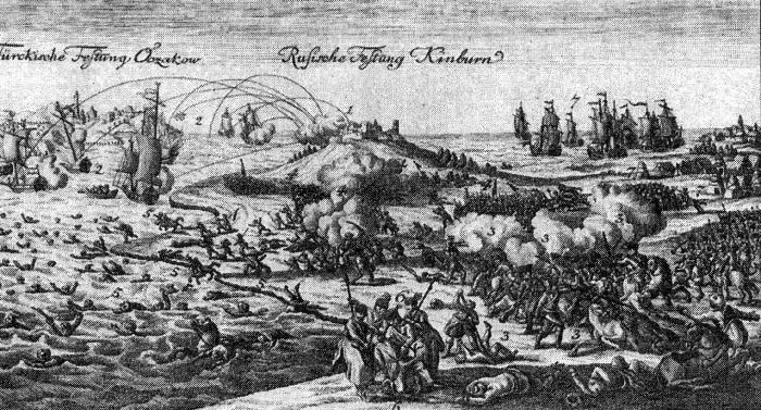 история Очакова. Сражение под Кинбурном 1 октября 1787 г
