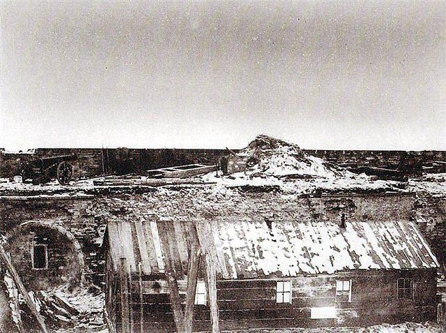 Кинбурнская крепость. Двор. 1855-56 г.