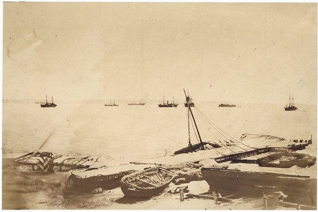 Англо-французский флот у беегов Кинбурна. Ноябрь 1855 г.