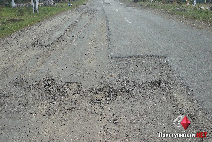 ДОрога в селе Каменка Очаковского районаю 2016 г.