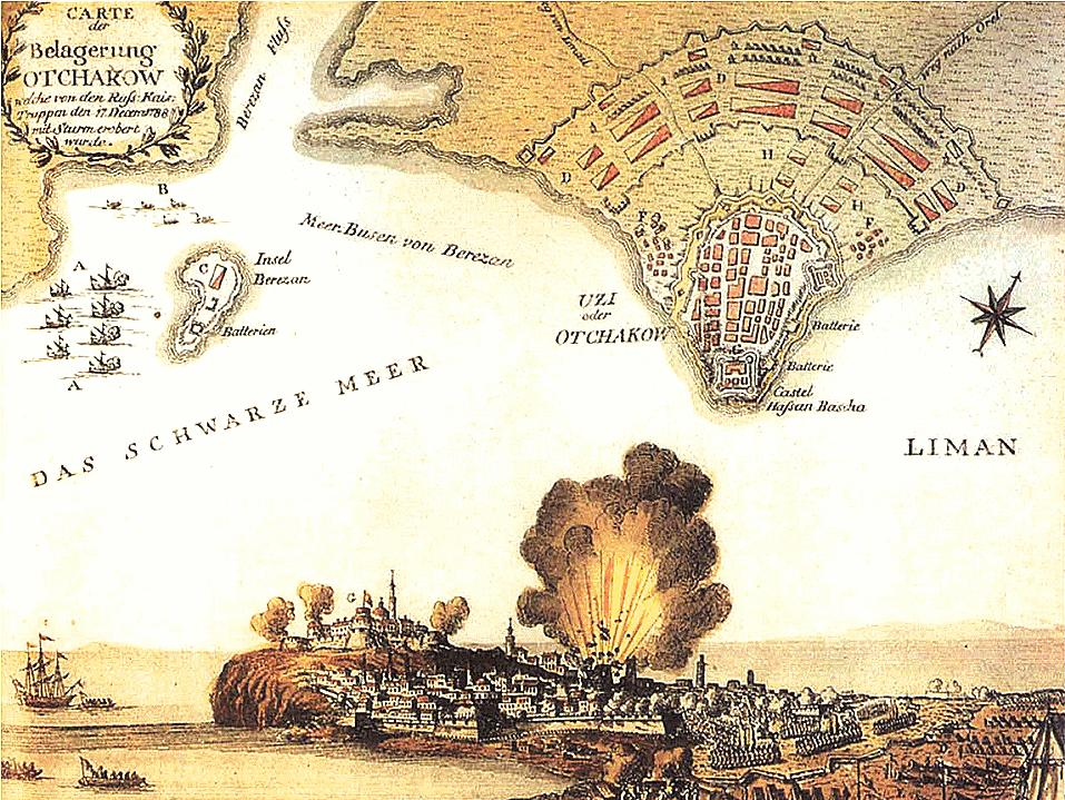 План турецкой крепости Очаков