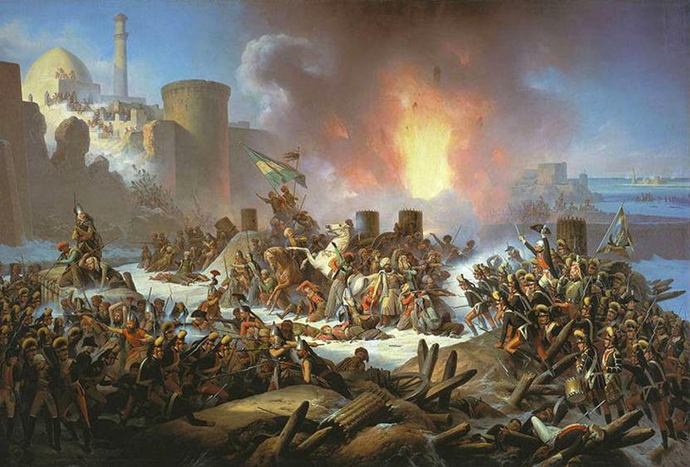 «Штурм Очакова 6 декабря 1788 г.» Я. Суходольский, 1853 г.