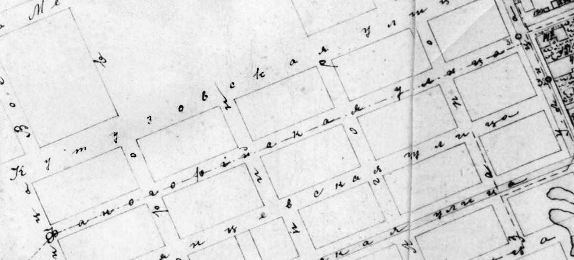 Фанагорийская улица на карте Очакова 1909 г.