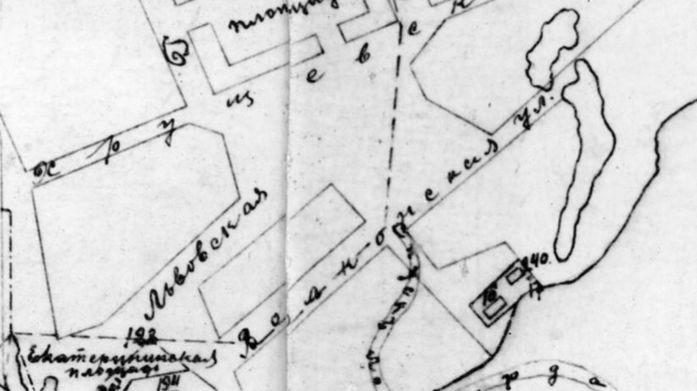 Карта Очакова 1909 г.