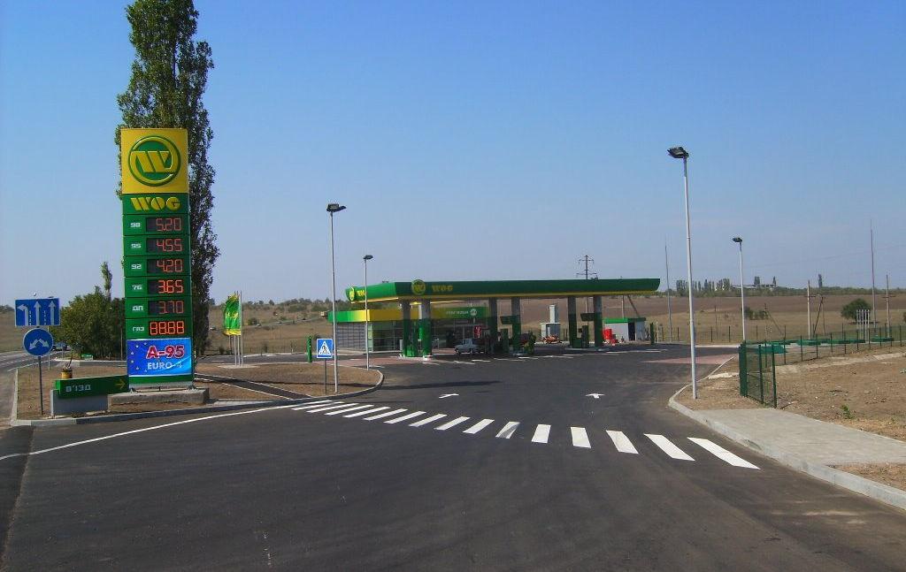 АЗС на Очаковском повороте Одесса-Николаев