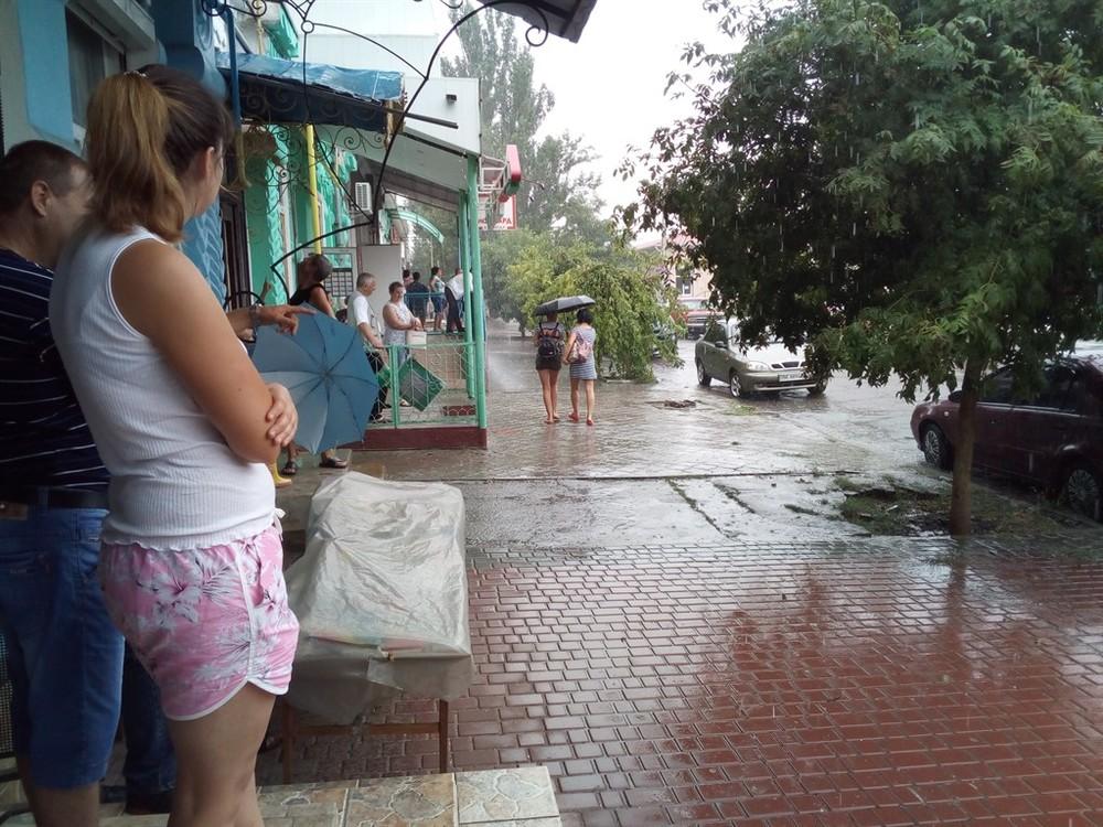 Очаков. Июльский дождь
