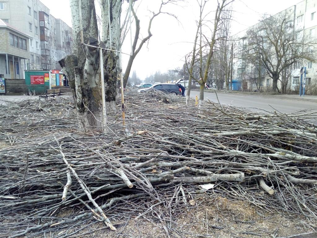Обрезка деревьев в Очакове