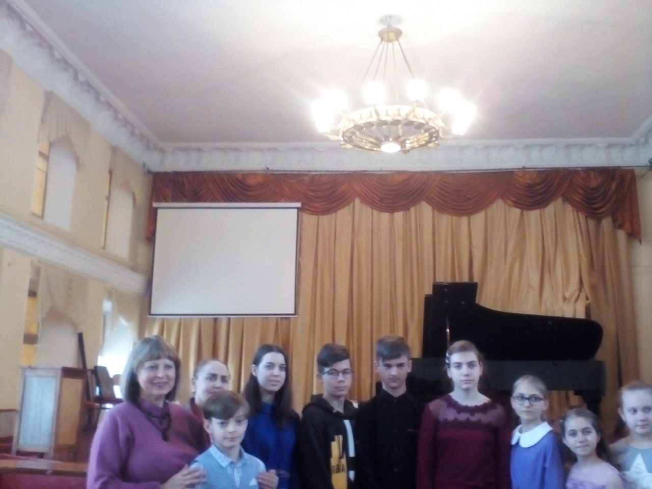 Учасники конкурса юных пианистов. 21 марта 2018 г.