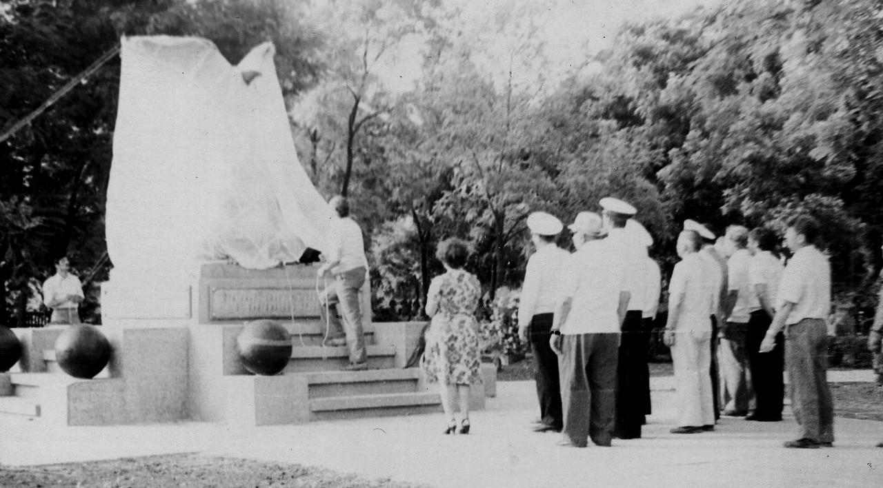 Открытие памятника  6 июля 1978 г..